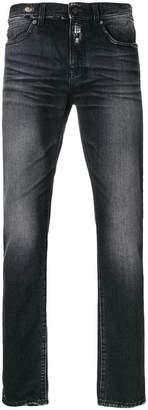 Saint Laurent distressed trim slim fit jeans