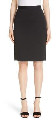 St. John Milano Wool Blend Pencil Skirt