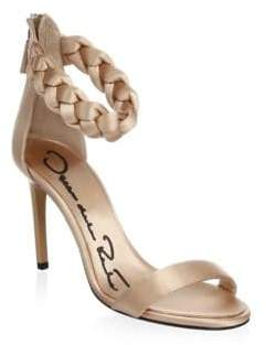 Oscar de la Renta Satin Stiletto Sandals