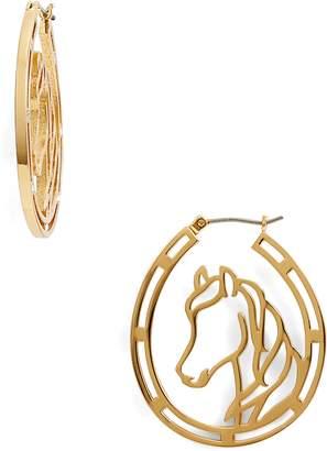 Kate Spade Wild Ones Horse Wire Hoop Earrings