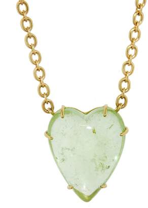 Irene Neuwirth 34.94 Carat Green Tourmaline Heart Necklace - Yellow Gold