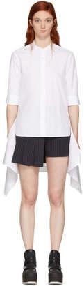 Neil Barrett White Short Sleeve Fall Away Shirt