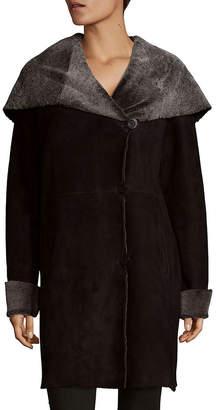 Blue Duck Shearling Cowled Long Coat