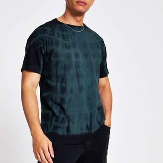 Mens Green tie dye oversized T-shirt