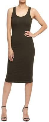 TheMogan Women's Sleeveless Scoop Neck Midi Tank Dress Black S