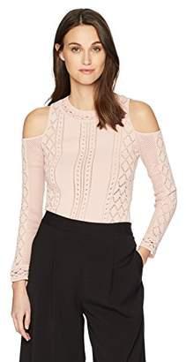 BCBGMAXAZRIA Women's Alouette Cold-Shoulder Sweater
