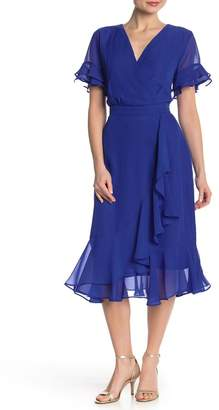 ECI Chiffon Woven Ruffle Dress