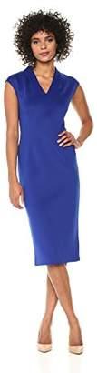 S.L. Fashions Women's Sleeveless Neck Scuba Midi