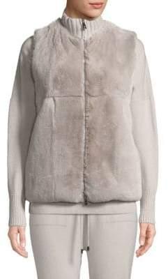 Peserico Rabbit Fur Vest
