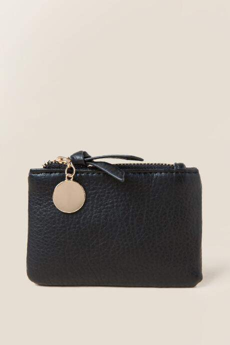 Francesca's Anya Coin Pouch in Black - Black