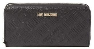 Love Moschino Embossed Logo Zip-Around Wallet