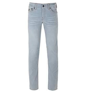 True Religion Men's Geno Slim Straight Corduroy with Back Flap Pockets