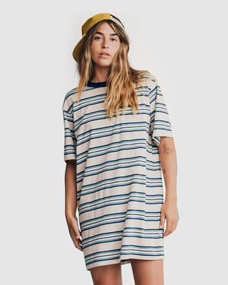 Quiksilver Womens Oversized Striped Tee Dress