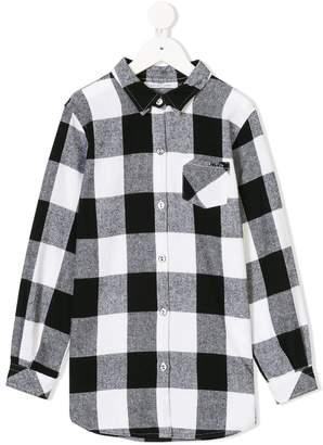 Liu Jo Kids checked buttoned up shirt