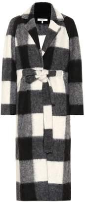 Ganni Checked wool-blend coat