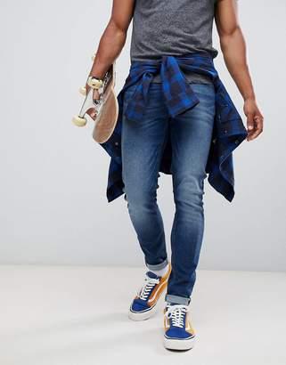 Lee malone super skinny jeans in blue drop