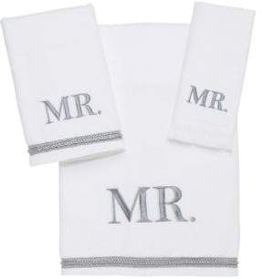 Avanti Mr. Embroidered Cotton Hand Towel
