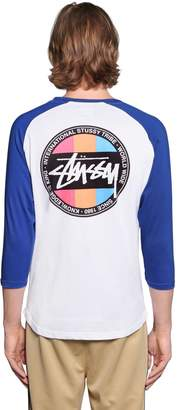 Stussy Surfman Dot Two Tone Jersey T-Shirt