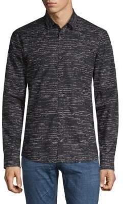 HUGO BOSS Print Cotton Shirt