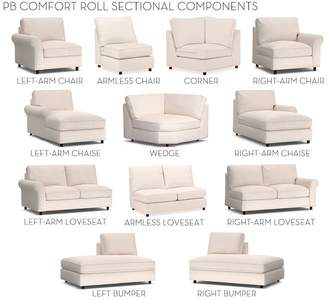Pottery Barn Build Your Own, Box Edge - PB Comfort Roll Arm Upholstered Sectional Components