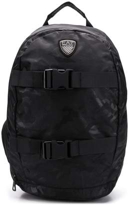 Emporio Armani Ea7 logo patch backpack