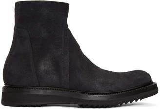 Rick Owens Black Nubuck Creeper Boots
