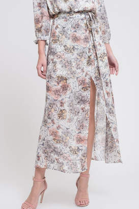 J.o.a. Floral Maxi Skirt