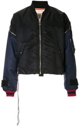 Facetasm puffy bomber jacket