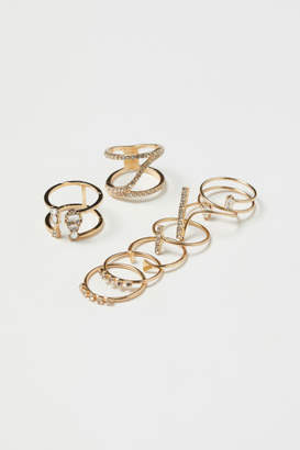 H&M 8-pack Rings - Gold