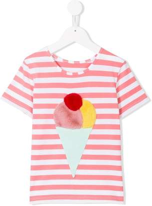 ICECREAM Bang Bang Copenhagen striped ice-cream T-shirt