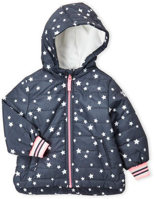 Osh Kosh B'gosh (Toddler Girls) Star Hooded Puffer Jacket