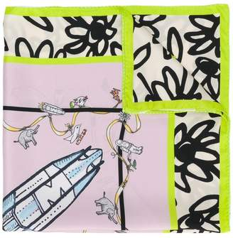 Marni rocket print scarf