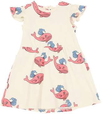 Mini Rodini Whale Print Cotton Jersey Dress