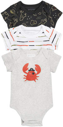 First Impressions Baby Boys 3-Pack Printed Cotton Bodysuits, Created for Macy's