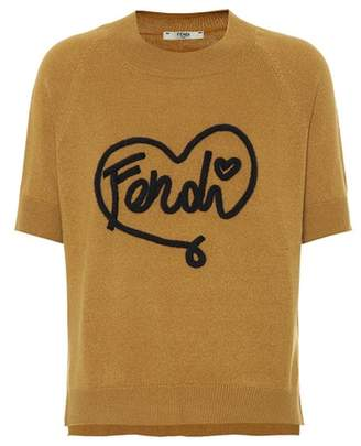 Fendi Heart cashmere-blend sweater