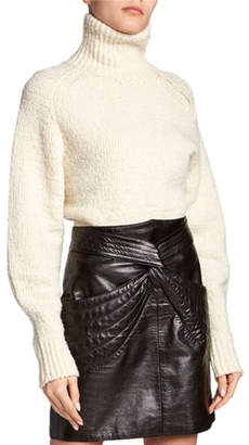 Isabel Marant Effy Zip-Neck Turtleneck Sweater