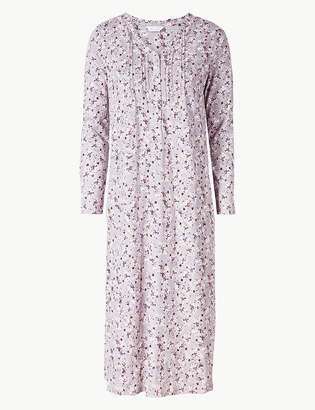 M S CollectionMarks and Spencer Ditsy Floral Print Long Sleeve Nightdress 9376ba9e6