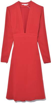 Stella McCartney Long Sleeve Dress in Red Romance