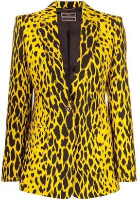 Versace animal print blazer