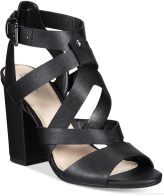 Bar Iii Mae City Block-Heel Sandals, Only at Macy's Women's Shoes $89.50 thestylecure.com