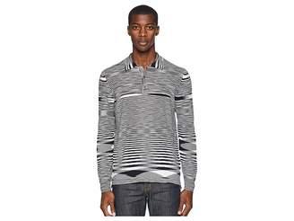 Missoni Boston Fiammato Long Sleeve Polo Sweater