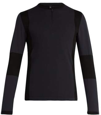 Falke Ess - Half Zip Technical Jersey Top - Mens - Black