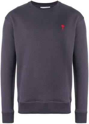 Ami Alexandre Mattiussi crewneck sweatshirt with red Ami de Coeur embroidery