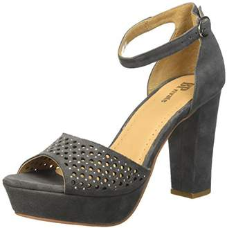 B | Private BPrivate Women's E0805X Open Toe Sandals Grey Size:
