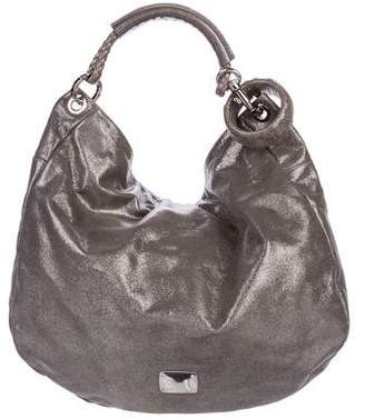 Jimmy Choo Metallic Leather Solar Hobo
