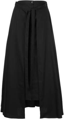 Rosetta Getty tie-detail layered skirt