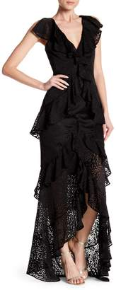 Jay Godfrey Cecil Ruffled Lace Gown