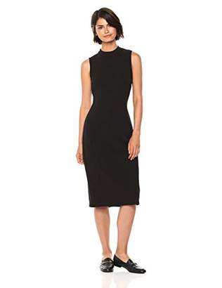 Nine West Women's Mock Turtleneck Sleeveless Sheath Dress