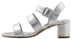 Violeta BY MANGO Metallic strap sandals