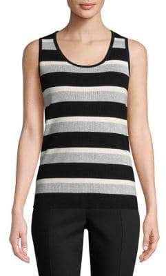 Jones New York Striped Hi-Lo Tank Top